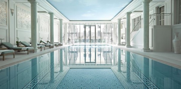 Swimming pool at Shangri-La, Paris