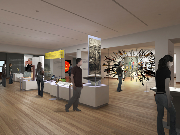 Rendering of the Tools: Extending Our Reach exhibition at the Cooper Hewitt, New York.