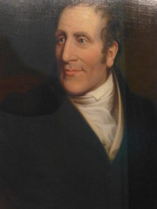 Portrait of Henry Bell, who started Europe's first successful steamship service in Glasgow, in the Riverside Museum