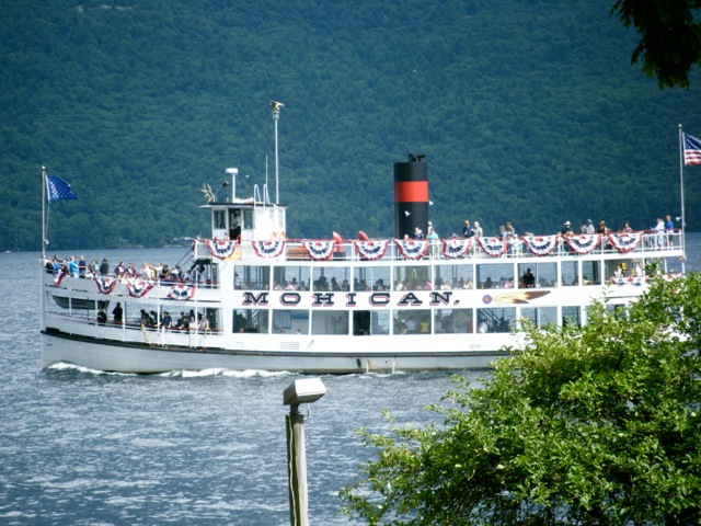 Plying the waters of Lake George in New York's Adirondacks.
