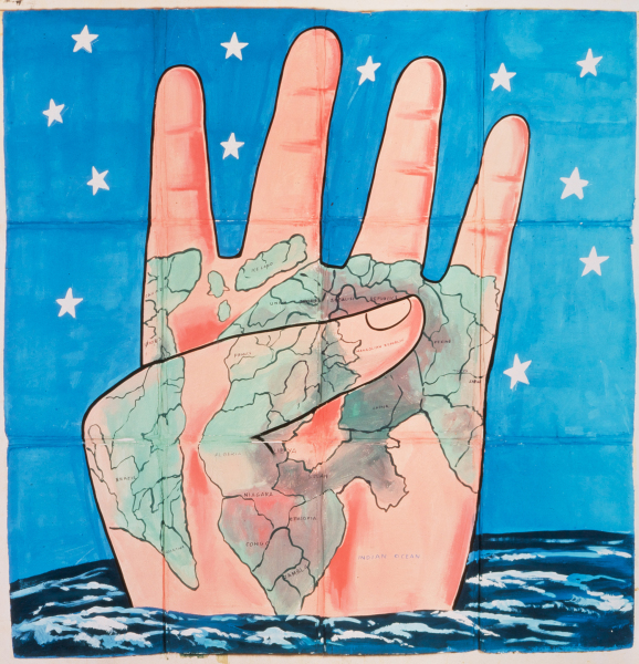 "Francesco  Clemente, ""The Four Corners"" Private Collection"