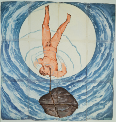 "Francesco Clemente, ""Moon."" Collection Museum of Modern Art."