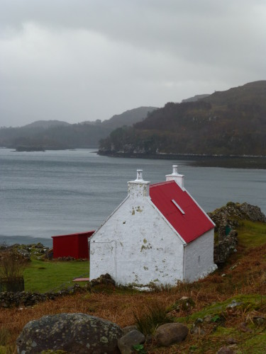 A restored loch-side croft in the Highlands. Photo Monique Burns