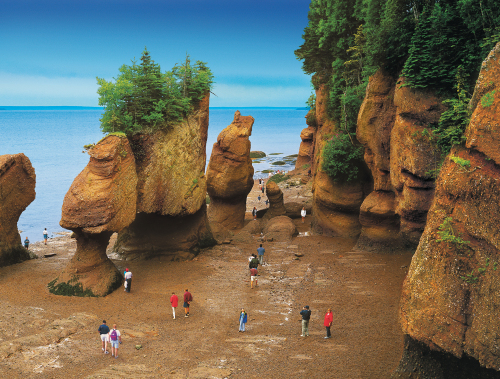 Sea kayaking in the Bay of Fundy, New Brunswick