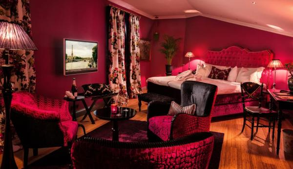 """Dorsia Hotel, Gothenburg, Sweden The design concept here is that when guests enter, they think they've """"ended up in the wrong century and in the home of an eccentric lady from the previous century."""""""