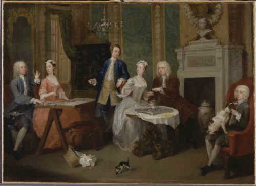 William Hogarth, Portrait of a Family, ca. 1735, oil on canvas, Yale Center for British Art, Paul Mellon Collection