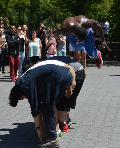 The Positive Brothers in Central Park. Photo by David McKay Wilson.