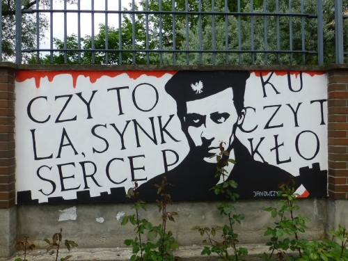 At the Warsaw Rising Museum, a sign recalls Polish resistance forces.  Photo Monique Burns.