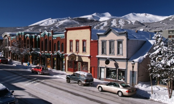 Winter Views of the Town of Breckenridge.