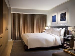 Guest room at Conrad New York.