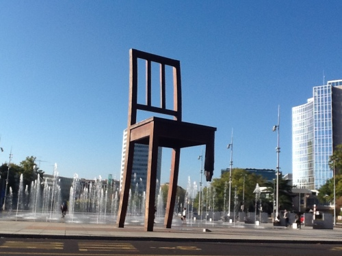 The Broken Chair monument. Photo by Richard West