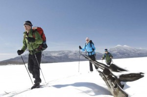 Skiers-at-Flagstaff-Lake-300x199