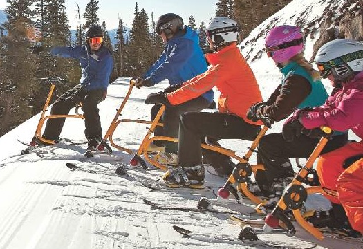 Telluride snowbiking class. Photo courtesy Telluride Ski & Golf.