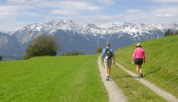 Walking in the Tyrol of Austria with The Wayfarers.
