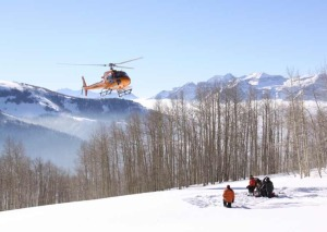 A chopper from Wasatch Powderbird Guides