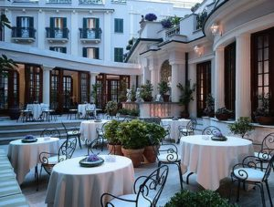 Dining terrace at the InterContinental De La Ville Roma