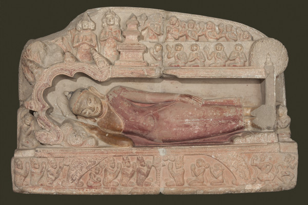 Bagan. Death of the Buddha.
