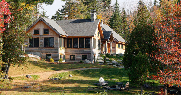 The Lodge at AMC's Gorman Chairback Lodge & Cabins in Maine.