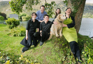 The Lucey family, the fifth generation to run Gougane Barra, Cork.