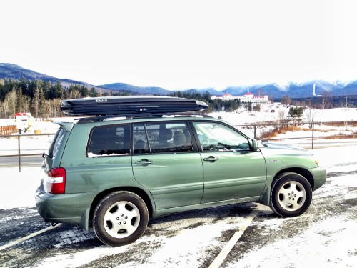 At Bretton Woods, New Hampshire with the Thule Sonic Alpine.