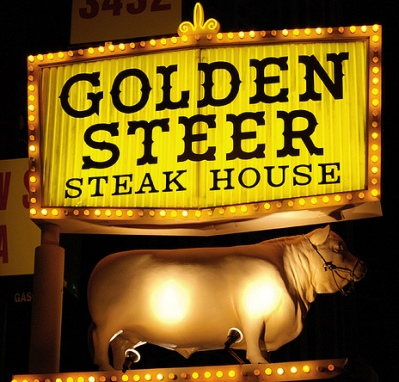 The Golden Steer, one of the top 10 steakhouses in Las Vegas