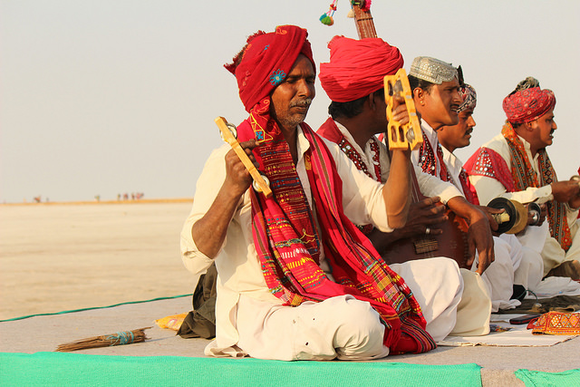 Musicians in Gujarat, India