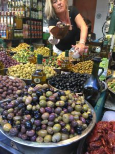 Olives at the Carmel Market