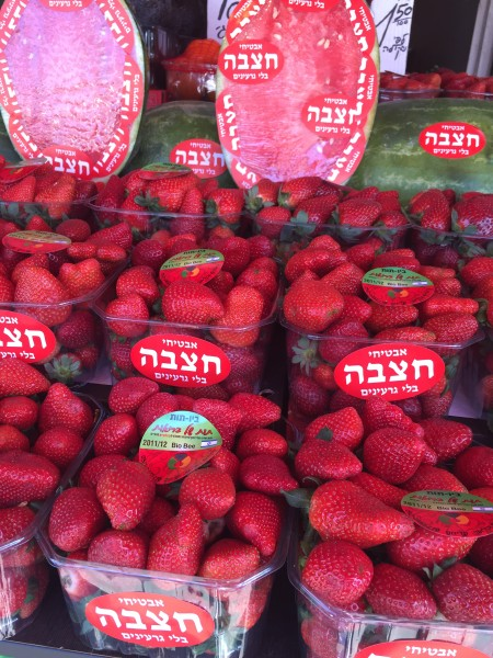 Strawberries at the Carmel Market