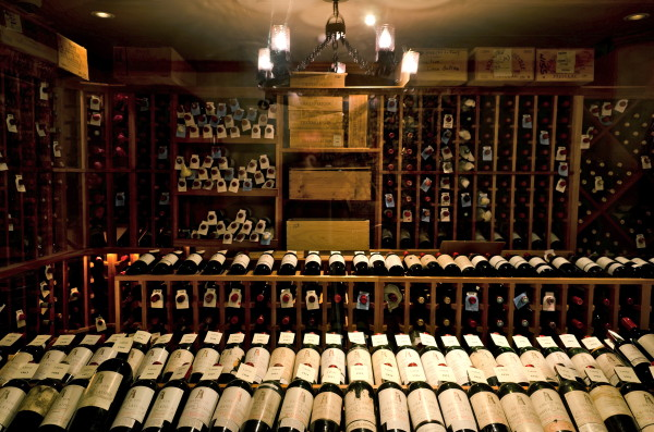 The wine cellar at Grand Cascade Lodge, Crystal Springs Resort