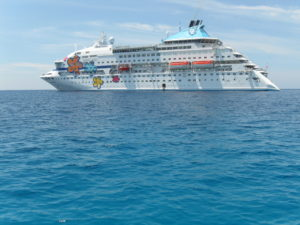Cuba Cruise ship, Louis Crystal, circumnavigates the island weekly from December through March.