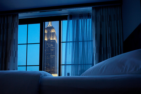 Guest room view from Archer Hotel, New York City