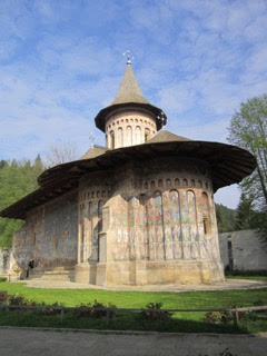 Painted church in Romania