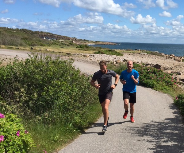 Running along the Kattegatsleden in Halmstad, Sweden