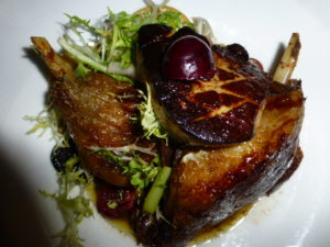 Sensuous and saturnine Duck Confit with foie gras and bing-cherry sauce PHOTO Monique Burns