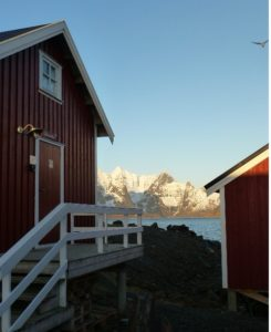 Eliassen Rorbuer's deluxe waterside cabins at  Hamnøy in the Lofoten Islands PHOTO Monique Burns