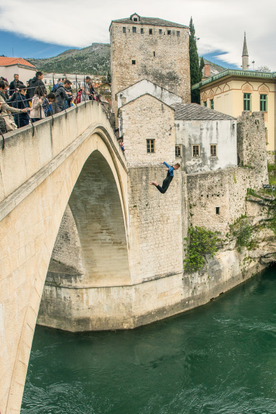 Jumping from Stari Most Bridge