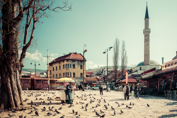 The center of Sarjevo.