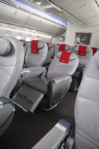 Premium Economy seats come with lots of extras. Photo credit: Norwegian