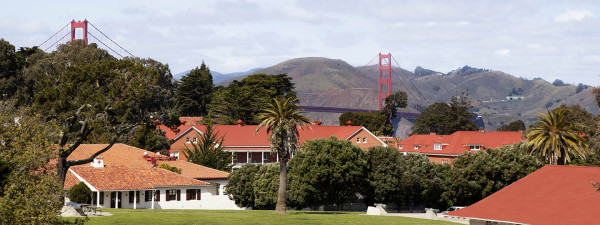 The view from a room at Inn at the Presidio.