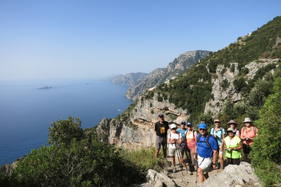 On the trail along the Amalfi. Photo by Alessandro Tombelli