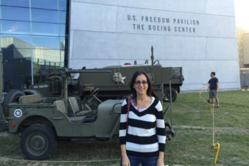 The author outside of the World War II Pavillion