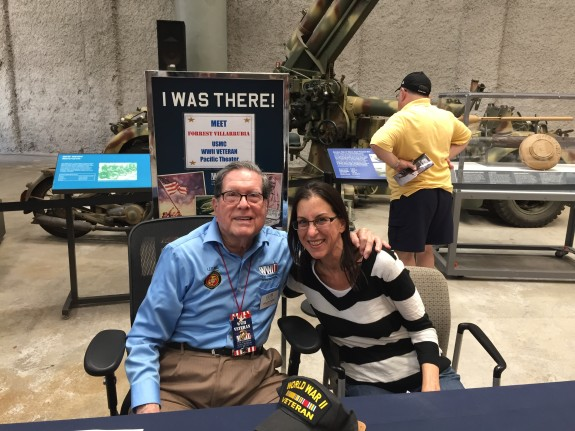 The author with Forrest at the World War II Museum in New Orleans