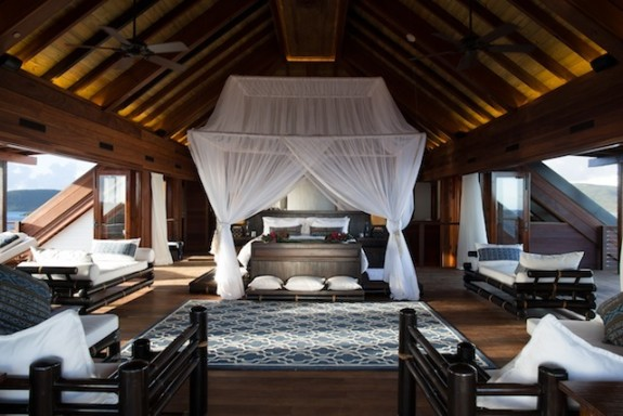 The Master Suite at Necker Island's Great House.