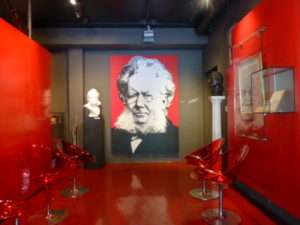 Dramatic entrance to The Ibsen Museum's main exhibits. Photo Monique Burns