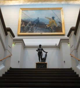 In The National Gallery, Leiv Eiriksson Discovers America (1893) by Christian Krohg. Photo Monique Burns