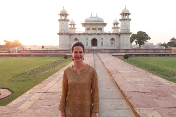The author at the Baby Taj.