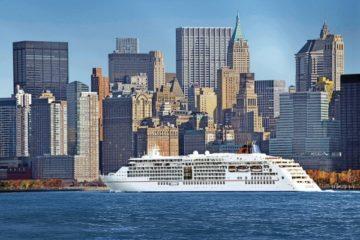 The Europa 2 in New York harbor.