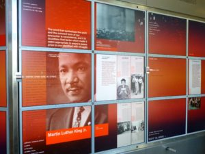 The Nobel Peace Center's display on 1964 laureate Dr. Martin Luther King, Jr.  Photo Monique Burns