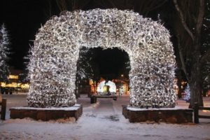 Antler archway in Jackson, Wyoming
