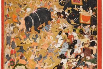 Battle Scene of Akbar's Imperial Army. Mughal, India. Courtesy Kapoor Galleries.